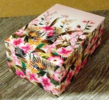sieradendoos pink flowers