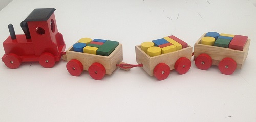 treintje met blokken