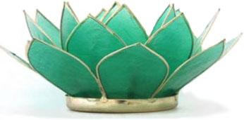 waxinelichthouder lotus groen capiz filippijnen kinta