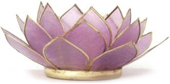 waxinelichthouder lotus lichtpaars capiz filippijnen kinta