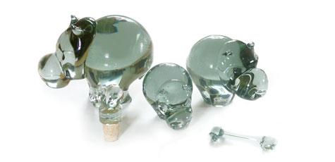 recycled glas nijlpaard
