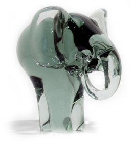 recycled glas olifant