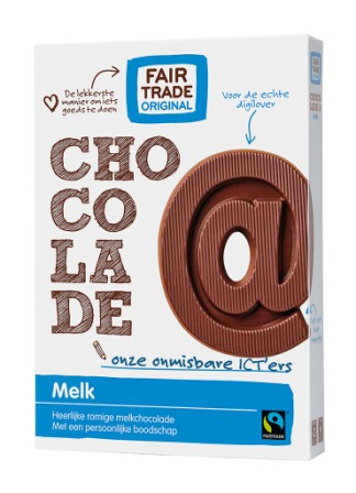 chocoladeletter melk fair trade original