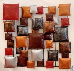 wanddeco vk rood-bruin / metaal / Indonesië