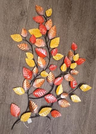 wanddeco herfstblad / metaal