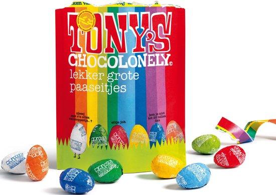 Tony, Pasen, chocolade paaseitjes Rainbow Mix